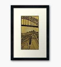 Lavender Bay Ferry Framed Print