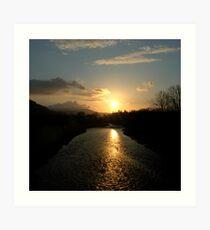 Tweed Sunrise (Peebles) Art Print