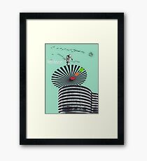 Retro-Futurism Framed Print
