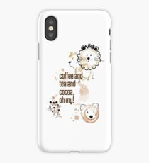 Coffee and Tea and Cocoa, Oh My! iPhone Case