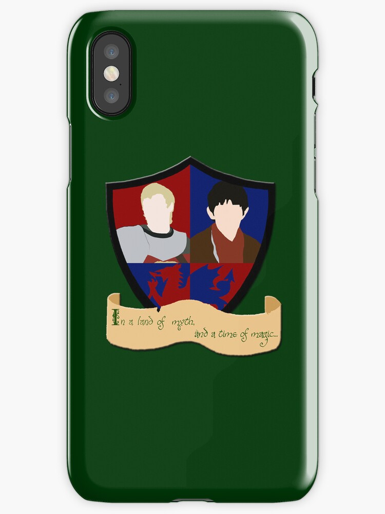 Shield of Merlin and Arthur (Iphone Cover) by Anglofile