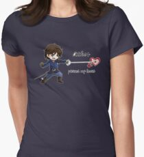 Athos pierced heart Womens Fitted T-Shirt