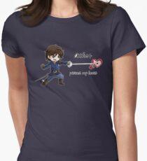 Athos pierced heart Women's Fitted T-Shirt