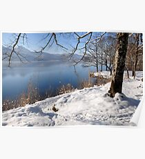 Lake and snow, Germany, Poster