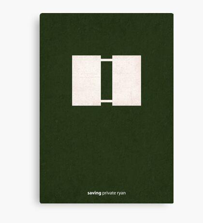 Saving Private Ryan - Minimal Poster Canvas Print