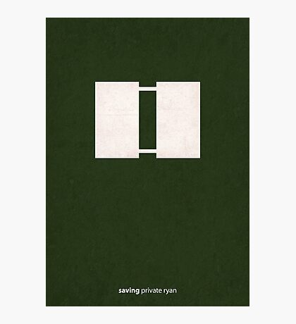 Saving Private Ryan - Minimal Poster Photographic Print