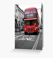London Town Greeting Card