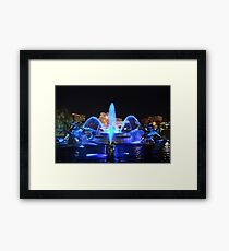 J.C. Nichols Fountain in Royal Blue Framed Print