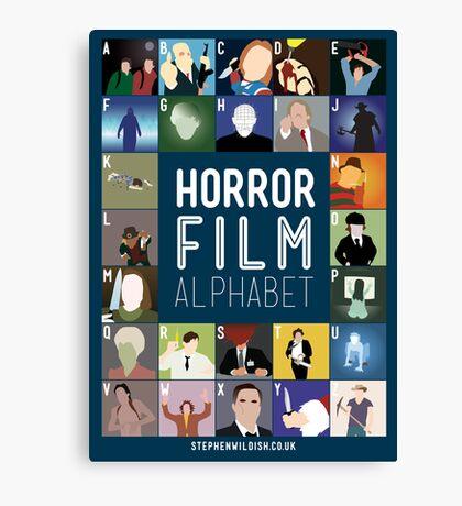 Horror Film Alphabet Canvas Print
