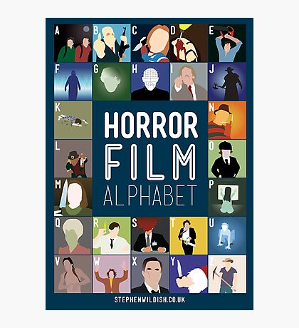 Horror Film Alphabet Photographic Print