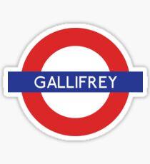 Doctor Who Gallifrey Tube Symbol Sticker