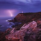 Approaching Storm - Cape Schanck Lighthouse by Mark Shean