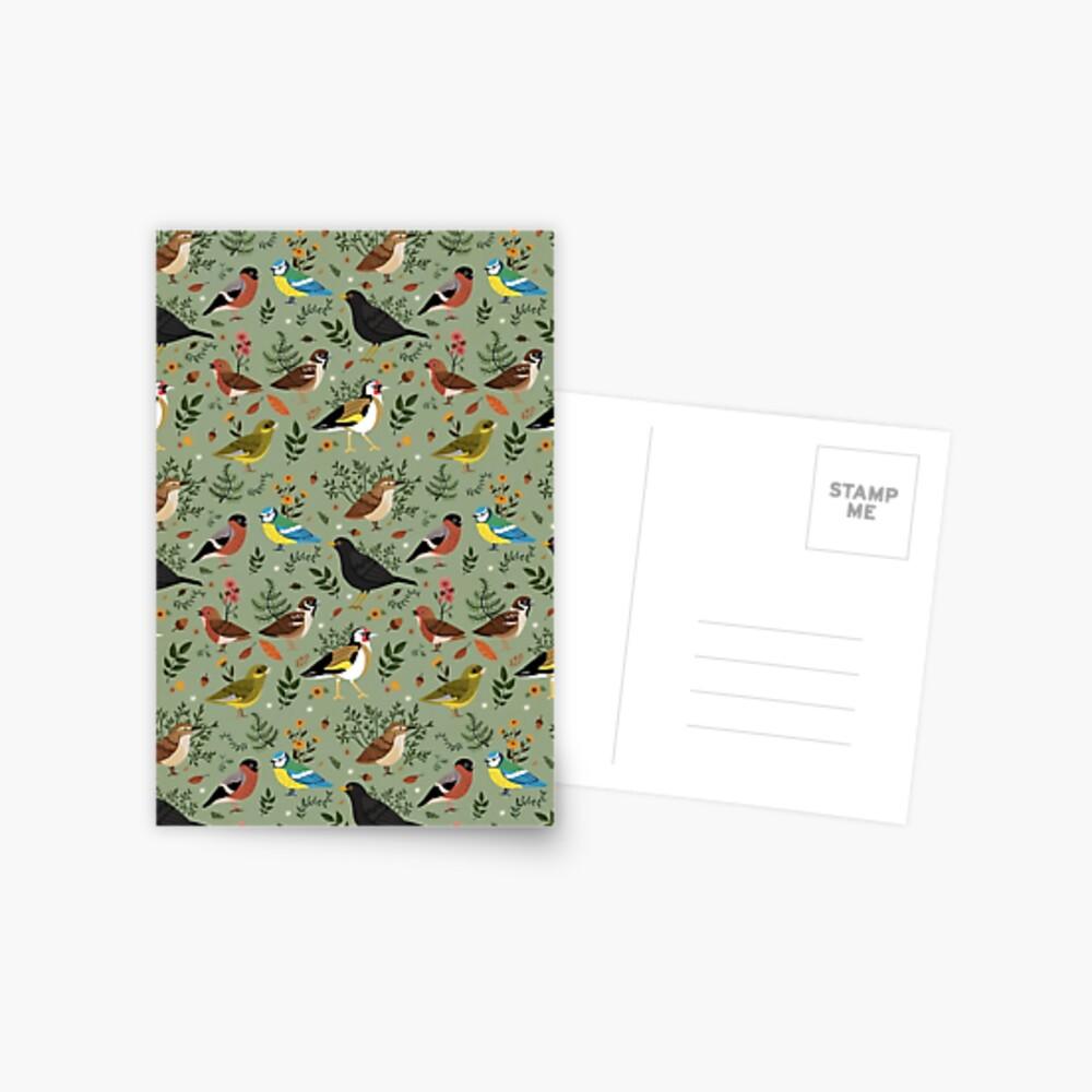 Garden Birds Postcard