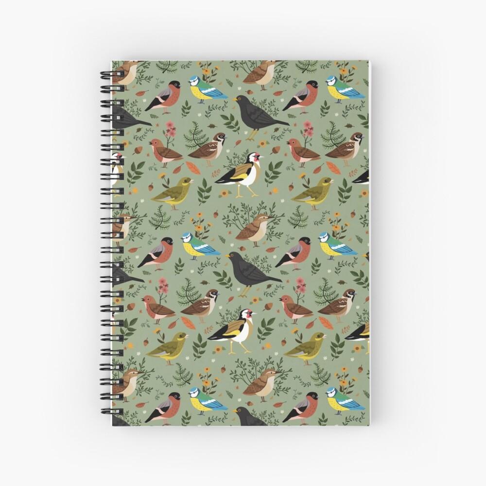 Garden Birds Spiral Notebook