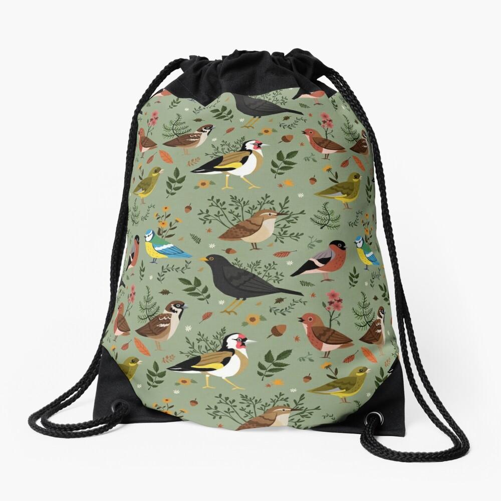 Garden Birds Drawstring Bag