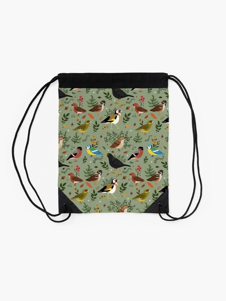 Alternate view of Garden Birds Drawstring Bag