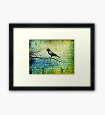 Portrait of a Raven Framed Print