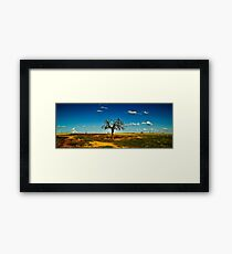 Sparse Tree Again - Parkes, NSW Framed Print
