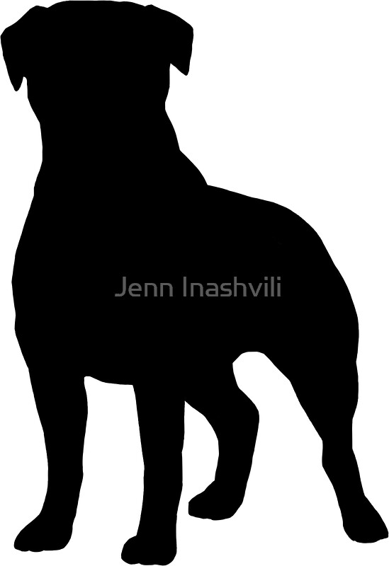 Quot Rottweiler Silhouette S Quot Stickers By Jenn Inashvili