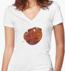 Last Year's Leaf Women's Fitted V-Neck T-Shirt