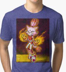 Blaze the Cat: Burning Blaze Tri-blend T-Shirt