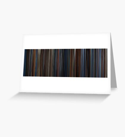 Moviebarcode: Captain America: The First Avenger (2011) Greeting Card