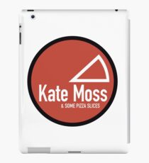 Kate Moss & some pizza slices iPad Case/Skin