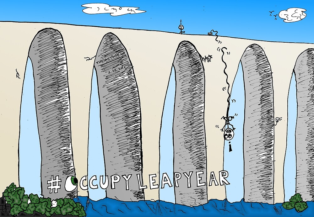 #Occupy Leap Year Day Cartoon by bubbleicious