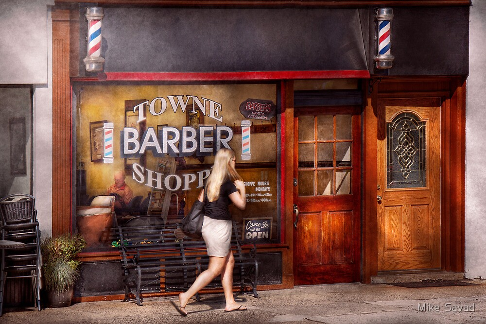 Barber - Barbershop - Time for a haircut by Michael Savad