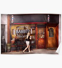 Barber - Barbershop - Time for a haircut Poster