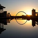 The Clyde Arc at sunrise by Glaspark
