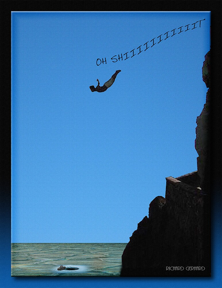 The Cliff Diver by Richard  Gerhard