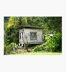 Wooden House At Brasso Seco, Trinidad. Photographic Print
