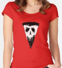 MONSTER PIZZA! Women's Fitted Scoop T-Shirt