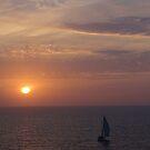 Early Evening with Sunset and Sailing Boat - Temprana Noche con Puesta del Sol y Velero by PtoVallartaMex