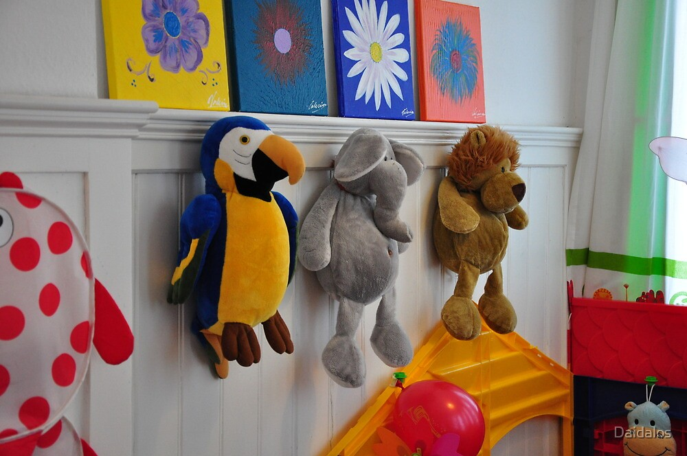 toys on the wall by Daidalos