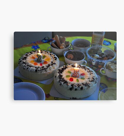birthday at home Metal Print