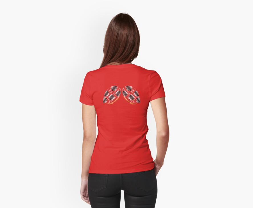 Cog and Gear Ladybug Wing Back Shirt by Amy-Elyse Neer