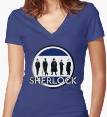Sherlock cast Women's Fitted V-Neck T-Shirt