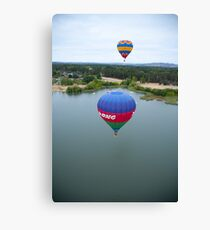 Balloons over Lake Burley Griffin 2 Canvas Print