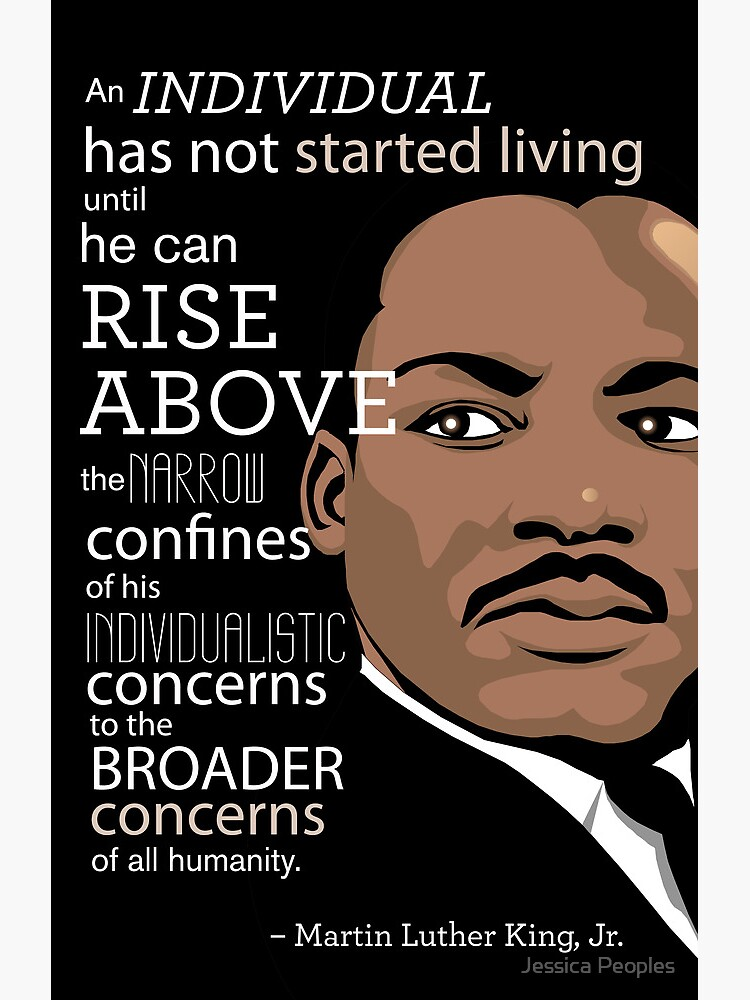Quot Inspirational Quote Martin Luther King Jr Quot Poster By