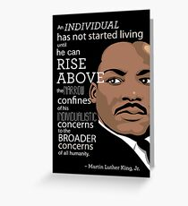 Inspirational Quote: Martin Luther King Jr. Greeting Card