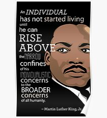 Inspirational Quote: Martin Luther King Jr. Poster