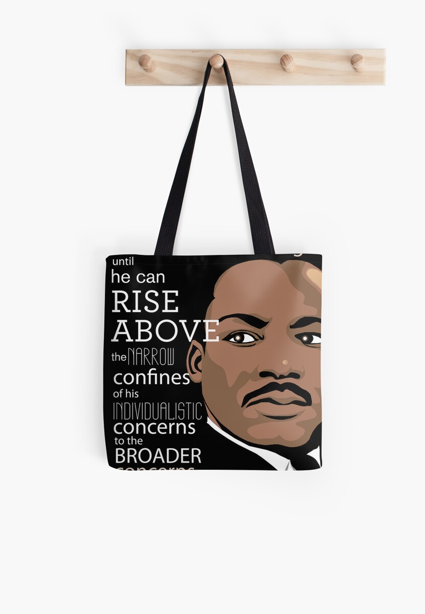 Inspirational Quote Martin Luther King Jr Tote Bags By Jessica