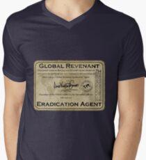 Global Revenant Eradication Agent - ID badge Men's V-Neck T-Shirt