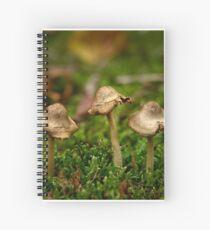 Miniature fungi Spiral Notebook