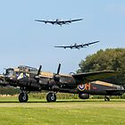 Three Lancasters at East Kirkby by Colin Smedley