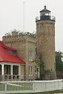 Lighthouse at Mackinaw City by Bob Hardy