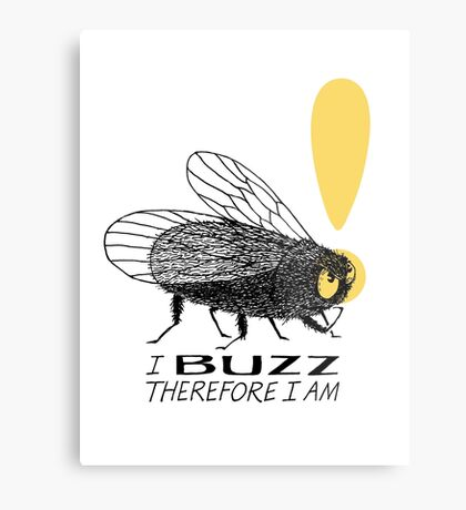 Thinker fly, I buzz therefore I am Metal Print