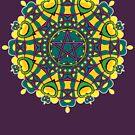 Pentacle Love Geometric Art by webgrrl